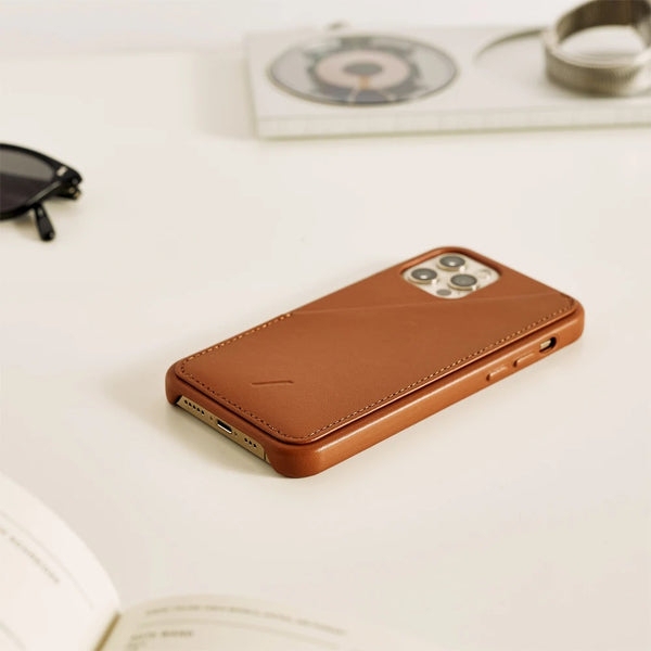 Clic Card Case for iPhone 12 & 12 Pro - Tan