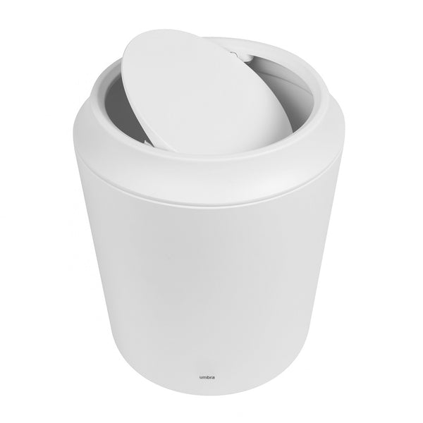 Corsa Scillae Waste Can with Lid - White
