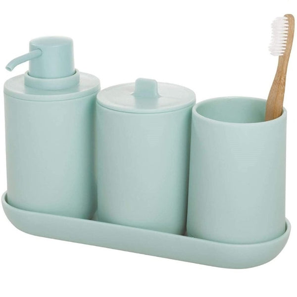 Cade 4 Piece Bathroom Set - Soft Aqua