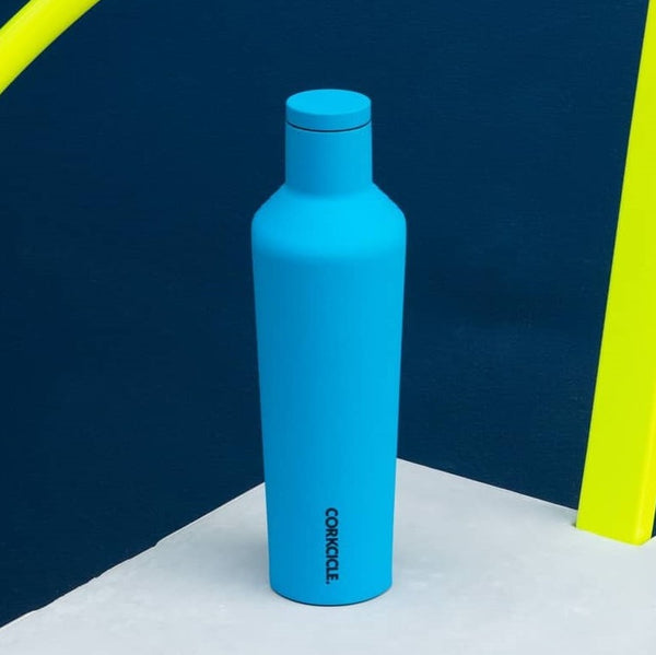 Insulated Canteen 750ml - Neon Blue