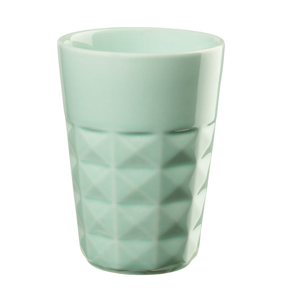 Facet Cappuccino Cup - Mint