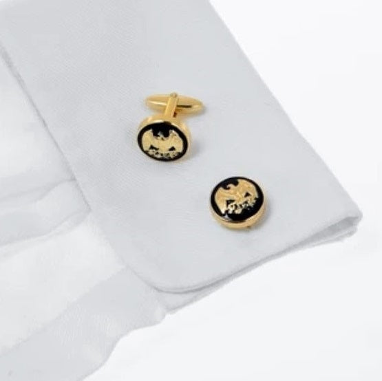 Wimbledon Cufflinks - Gold Eagle