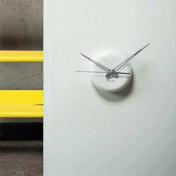 White Ceramic Dot Wall Clock