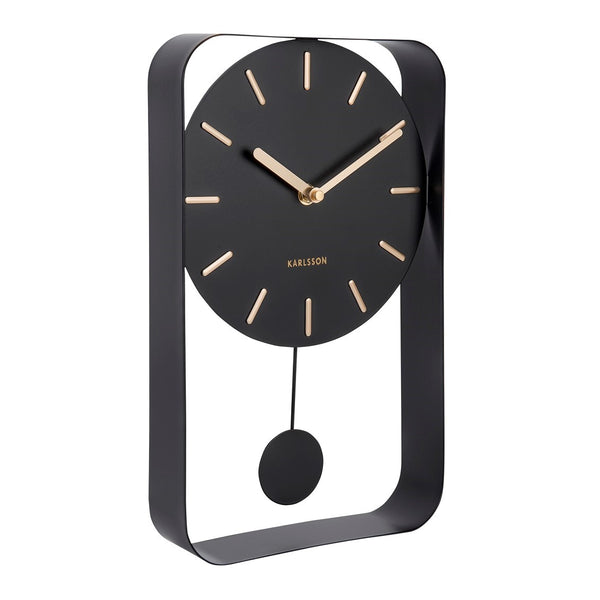 Charm Pendulum Wall Clock Medium - Black