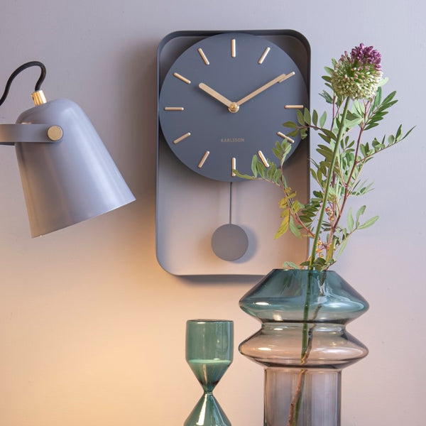 Charm Pendulum Wall Clock Medium - Grey