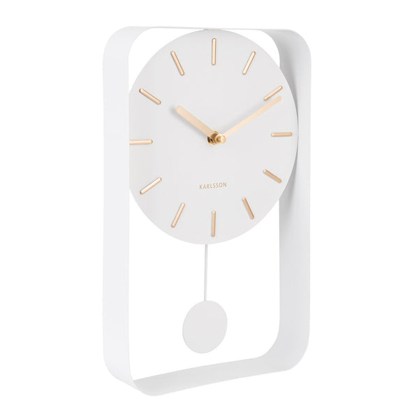 Charm Pendulum Wall Clock Medium - White