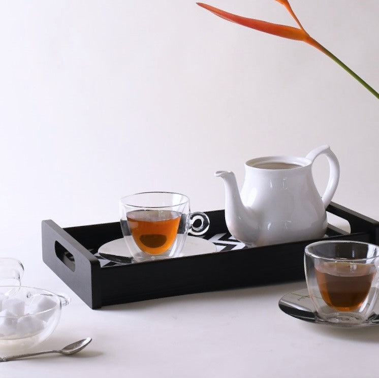 Monochrome Serving Tray - Large