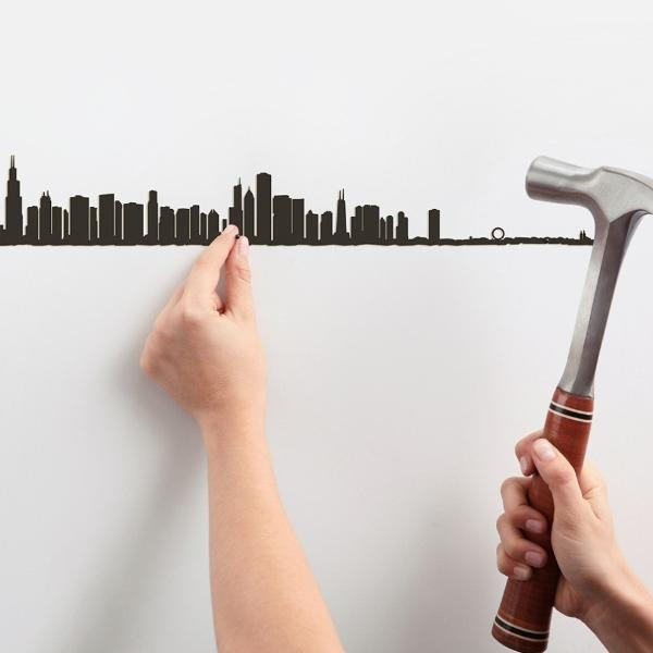 Metal Skyline Wall Decor - Chicago