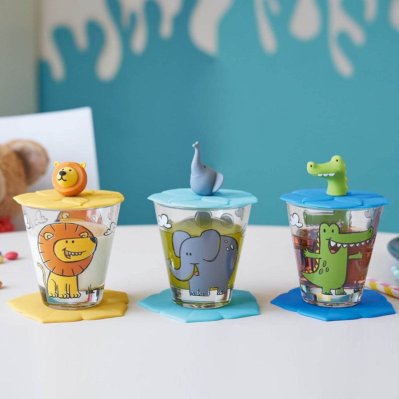 Bambini Drinking Set - Lion Crocodile Elephant
