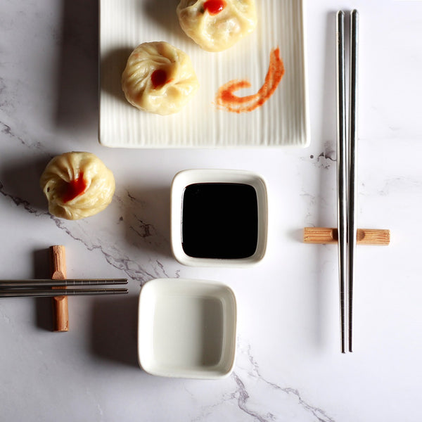 Chopsticks and Dip Bowls, Set of 4