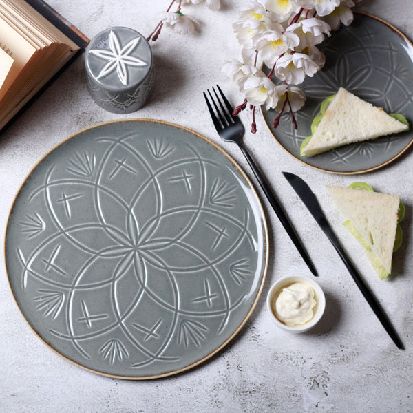 Christina Dinner Plate - Metal Grey