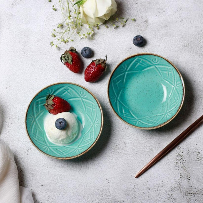 Christina Small Bowls, Set of 2 - Turquoise Blue