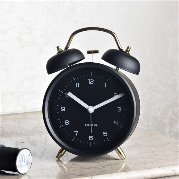 Classic Alarm Clock, Large - Black Gold