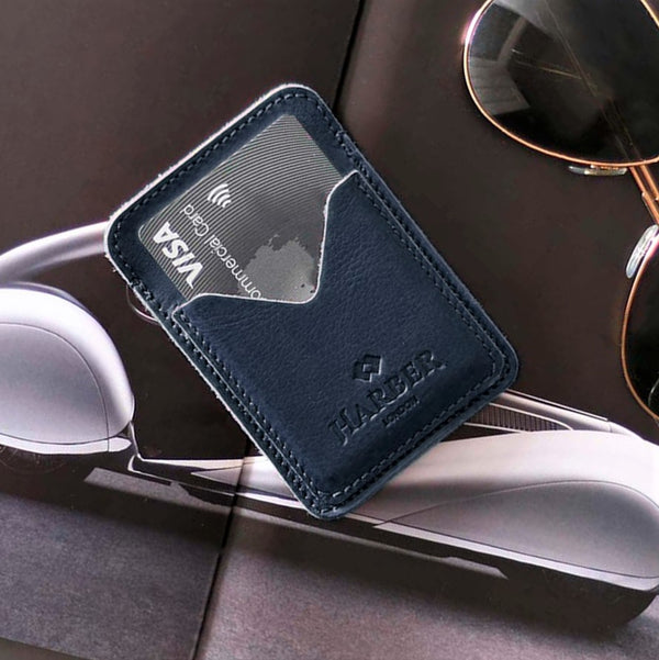 Classic 3 Pocket Card Holder - Navy