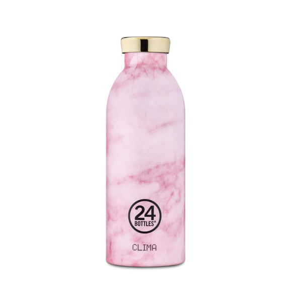 Clima Insulated Bottle 500ml - Pink Marble