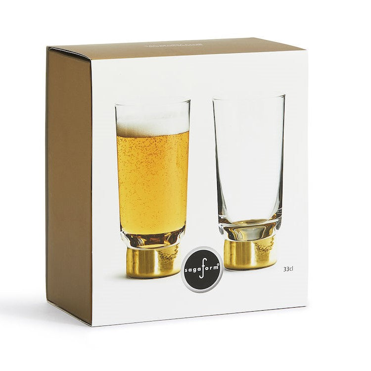 Club Gold Highball Glasses, Set of 2