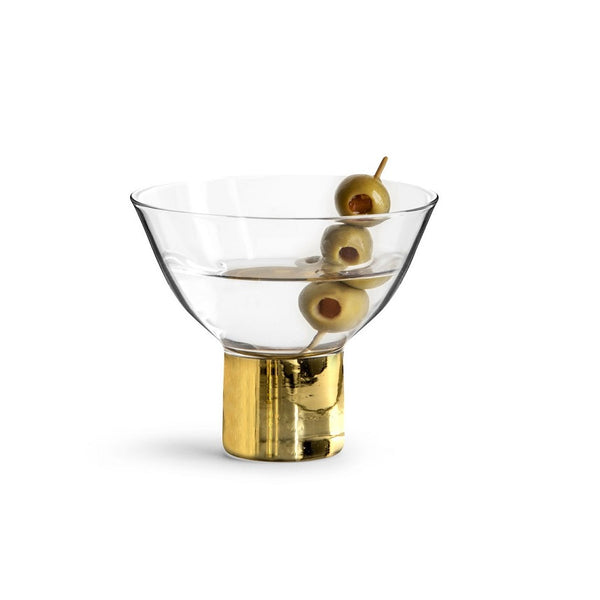 Club Gold Short Martini Glasses, Set of 2