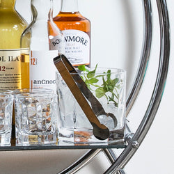 Club Collection Small Ice Bucket with Tongs