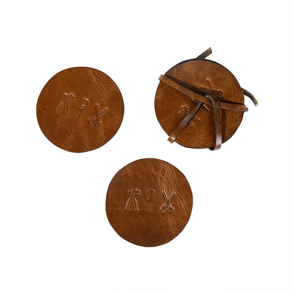 Leather Coasters, Set of 4