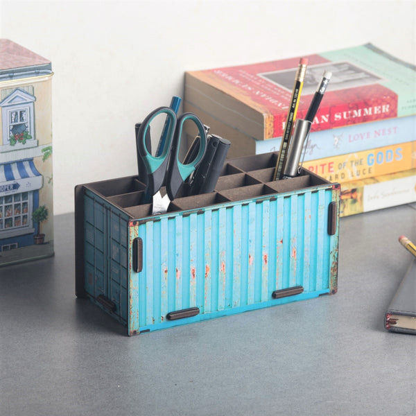 Pen Holder - Cabin Turquoise