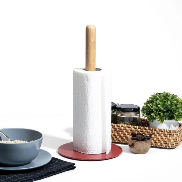 Cora Paper Towel Holder - Brick Red