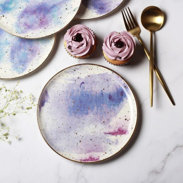 Cosmos Quarter Plate - Purple Splash