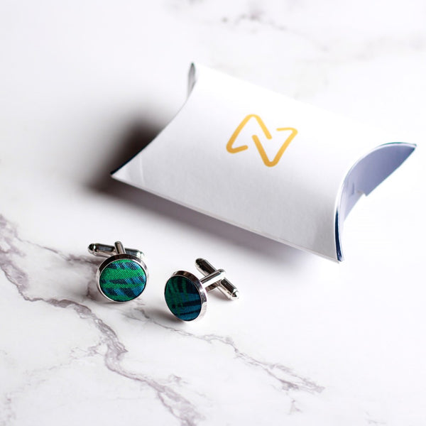 Blue Green Costa Rica Cufflinks