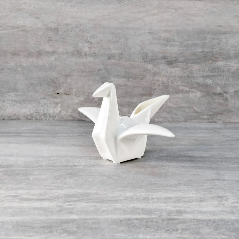 Origami Ceramic Crane Sculpture - Medium