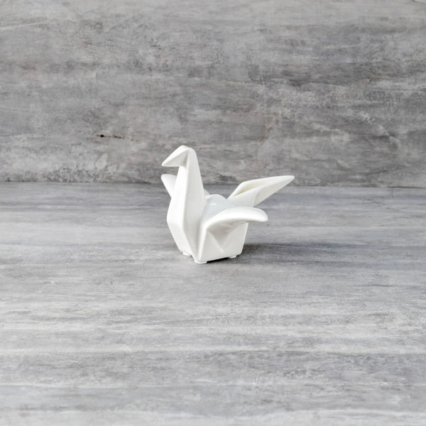 Origami Ceramic Crane Sculpture - Small
