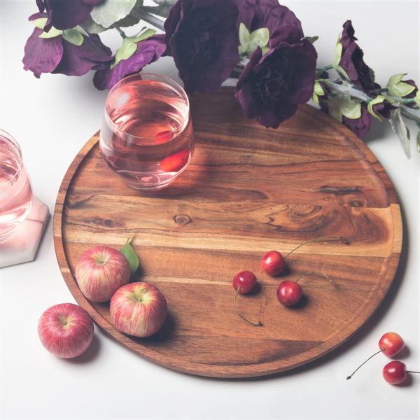 Creek Wooden Round Platter