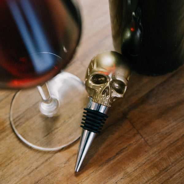 Bottle Stopper, Death by Wine - Gold