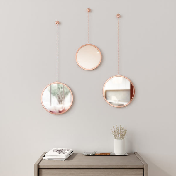 Dima Round Mirrors, Set of 3 - Copper