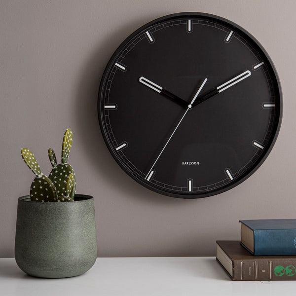 Dipped Wall Clock Large - Iron Black