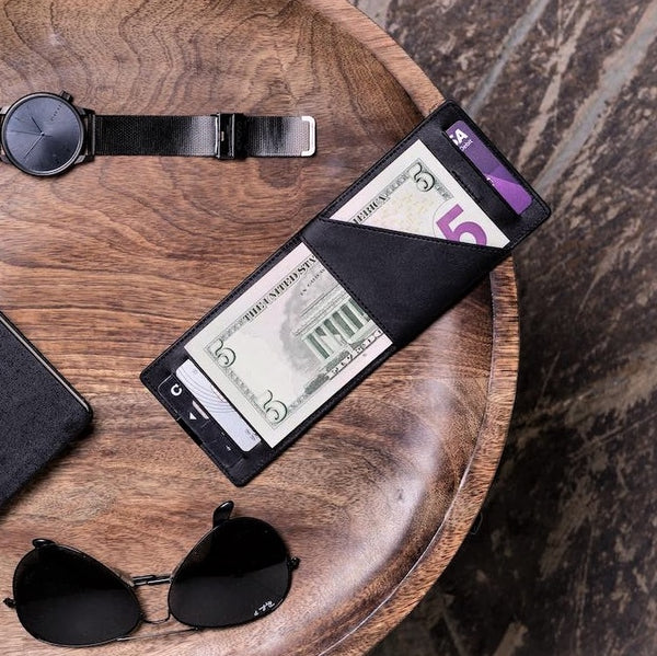 DUN Slim Wallet - Black Silver