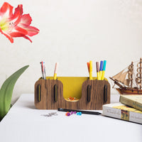 Pen Holder - Yellow Wood