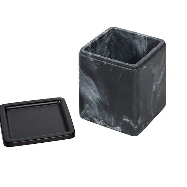 Dakota Canister - Black Marble