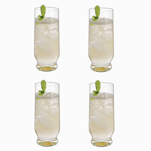 Home Bar Long Drink Glasses, Set of 4