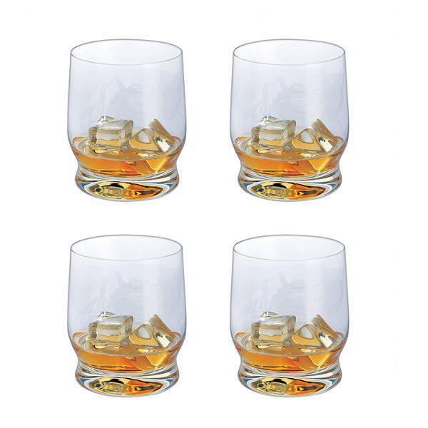 Home Bar Whiskey Tumblers, Set of 4