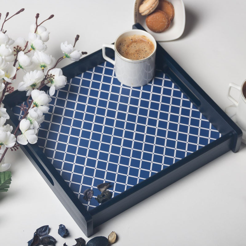 Deep Blue Serving Tray -  Square
