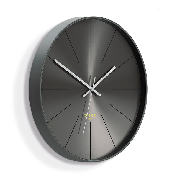 District 12 Wall Clock - Dark Grey