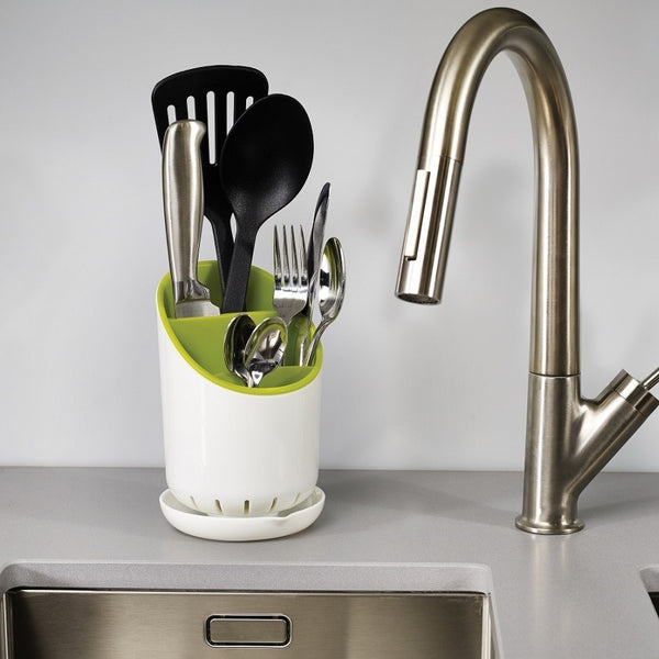 Dock Cutlery Drainer - White Green