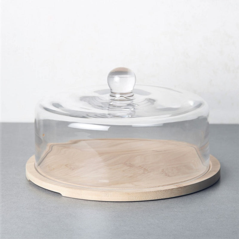 Bakers Glass Dome with Wooden Base