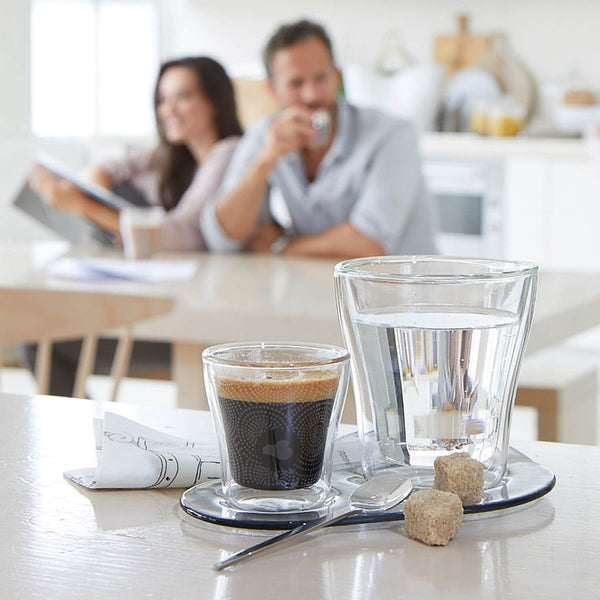 Deco Espresso Double Wall Cups, Set of 2