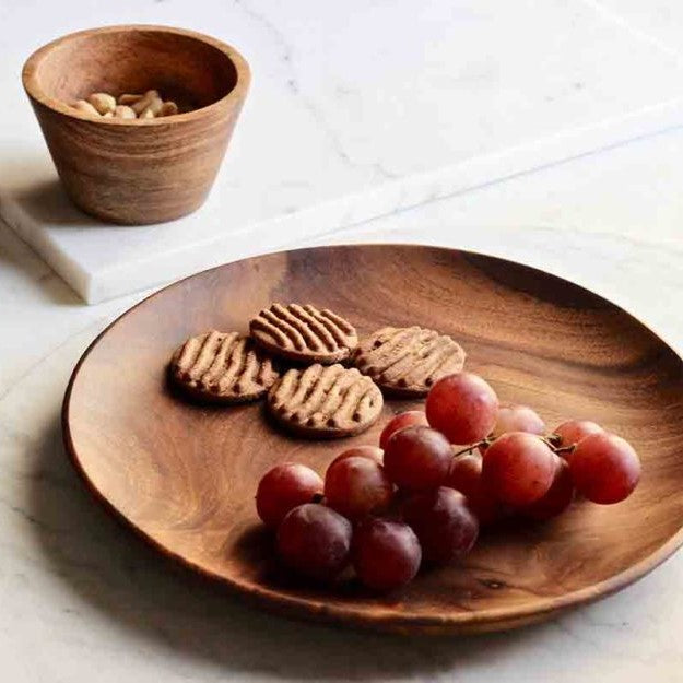 Dot Wooden Plates, Set of 2