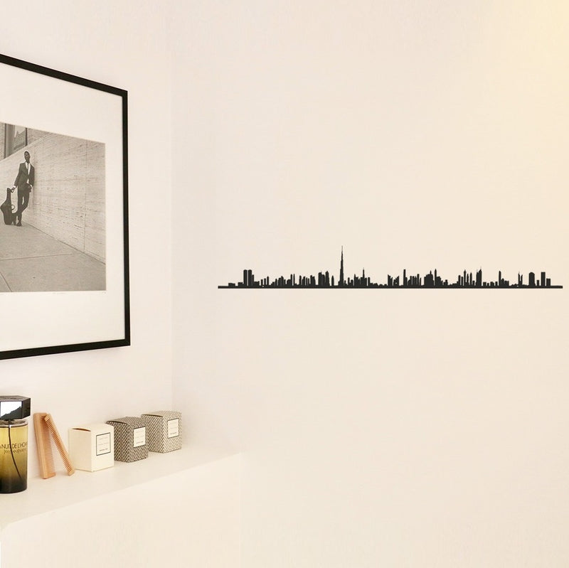 Metal Skyline Wall Decor - Dubai