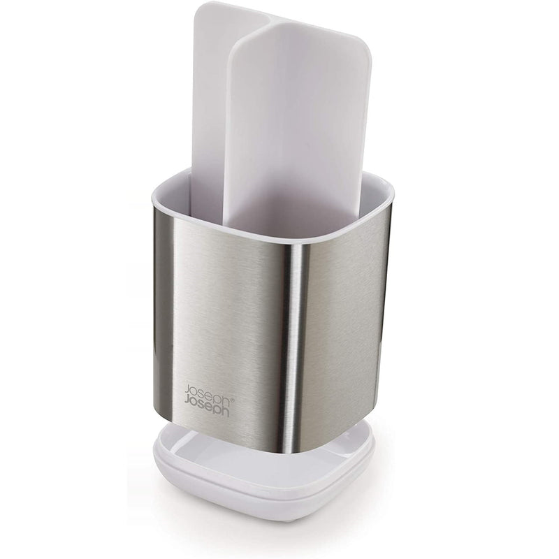 Easy Store Toothbrush Holder - White Steel