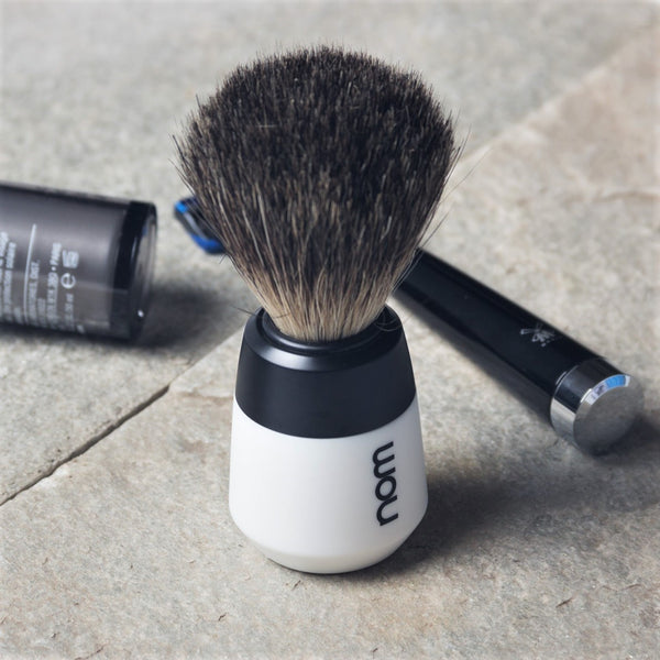 Max Badger Shaving Brush - White