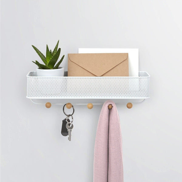 Estique Key Hook & Organizer - White