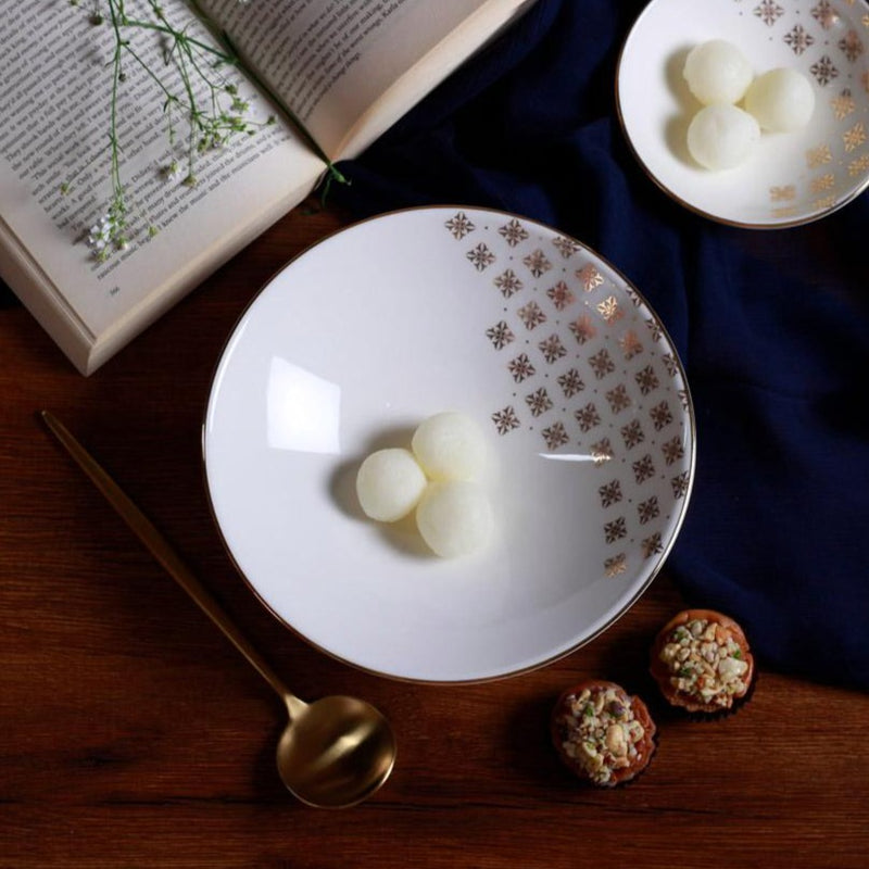 Evoke Serving Bowl - Pearl White