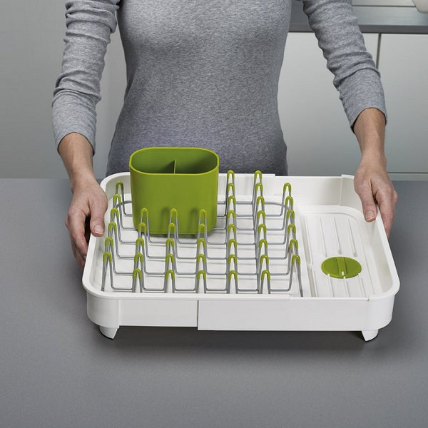 Extend Expandable Dish Drainer - White Green